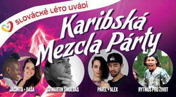 Karibská Mezcla party na Slováckém létě 2017