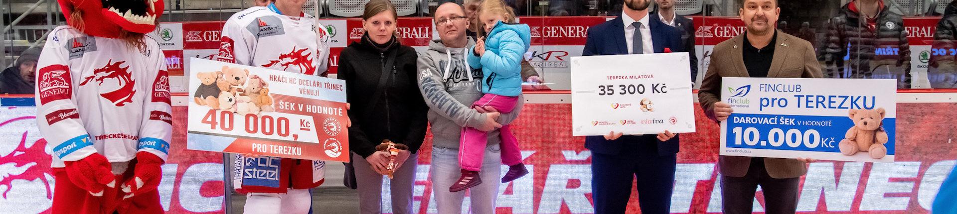 Mise Třinec ukončena – předání výtěžku rodině Milatových